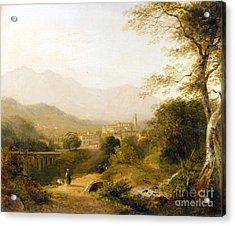 Italian Landscape Acrylic Print by Joseph William Allen