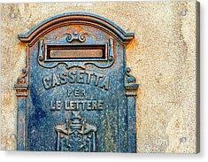Italian Mailbox Acrylic Print by Silvia Ganora