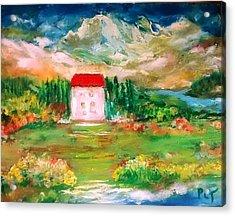 Italian Summer Retreat Acrylic Print by Patricia Taylor