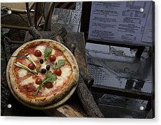 Italy, Tuscany, Florence, A Pizza Acrylic Print by Keenpress