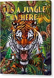 It's A Jungle  Acrylic Print by JQ Licensing