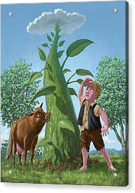 Jack And The Beanstalk Acrylic Print by Martin Davey
