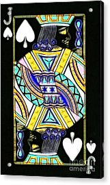 Jack Of Spades - V2 Acrylic Print by Wingsdomain Art and Photography