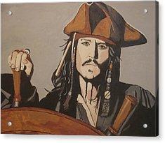 Jack Sparrow Acrylic Print by Bob Gregory