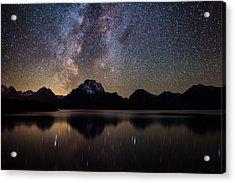 Jackson Lake Milky Way Acrylic Print by Darren White