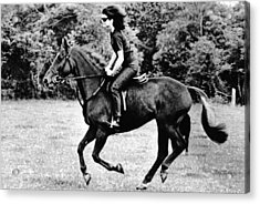 Jacqueline Kennedy, Riding A Horse Acrylic Print by Everett