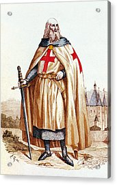 Jacques De Molay, Knights Templar Grand Acrylic Print by Science Source