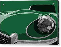 Jaguar E-type Acrylic Print by Michael Tompsett