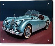 Jaguar Xk140 1954 Painting Acrylic Print by Paul Meijering