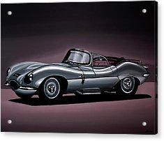 Jaguar Xkss 1957 Painting Acrylic Print by Paul Meijering