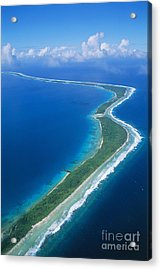 Jaluit Atoll And Lagoon Acrylic Print by Greg Vaughn - Printscapes