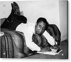 James Baldwin, 1963 Acrylic Print by Everett