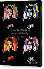 James Dean Acrylic Print by Mo T