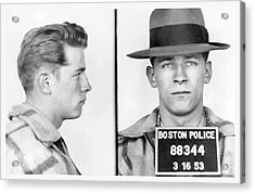 James Whitey Bulger Booking Photo 1953 Acrylic Print by Daniel Hagerman