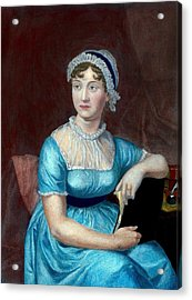 Jane Austen 1775-1817 English Novelist Acrylic Print by Everett