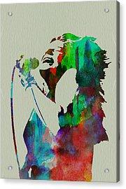 Janis Joplin Acrylic Print by Naxart Studio