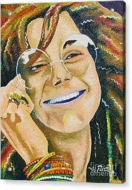 Janis Joplin  Acrylic Print by Joseph Palotas