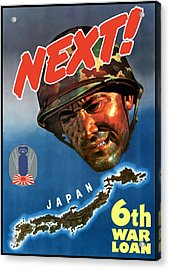 Japan Next World War 2 Poster Acrylic Print by War Is Hell Store