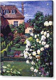 Jardin De Chateau Acrylic Print by David Lloyd Glover