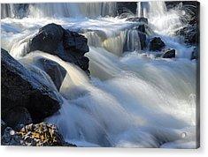 Jasper Falls Closeup Acrylic Print by Larry Ricker