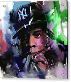 Jay Z Acrylic Print by Richard Day