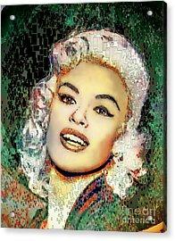 Jayne Mansfield - Pop Art Acrylic Print by Ian Gledhill