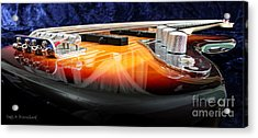 Jazz Bass Beauty Acrylic Print by Todd A Blanchard