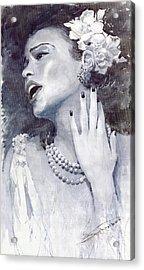 Jazz Billie Holiday Acrylic Print by Yuriy  Shevchuk