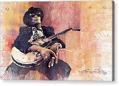 Jazz John Lee Hooker Acrylic Print by Yuriy  Shevchuk