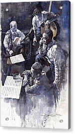 Jazz Parker Tristano Bauer Safransky Rca Studio Ny 1949 Acrylic Print by Yuriy  Shevchuk