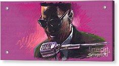 Jazz. Ray Charles.1. Acrylic Print by Yuriy  Shevchuk