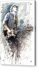 Jazz Rock John Mayer 05  Acrylic Print by Yuriy  Shevchuk