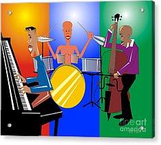 Jazz Trio Acrylic Print by Walter Oliver Neal