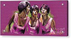 Jazz Trio Acrylic Print by Yuriy  Shevchuk