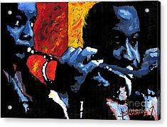 Jazz Trumpeters Acrylic Print by Yuriy  Shevchuk