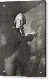 Jean Henri Latude, 1725 Acrylic Print by Vintage Design Pics