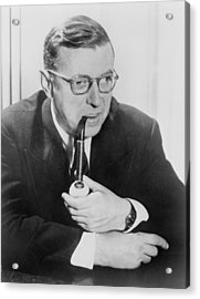 Jean-paul Sartre 1905-1980, French Acrylic Print by Everett