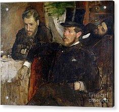 Jeantaud Linet And Laine Acrylic Print by Edgar Degas