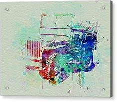 Jeep Willis Acrylic Print by Naxart Studio