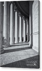 Jefferson Memorial Columns And Shadows Acrylic Print by Clarence Holmes