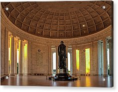 Jefferson Memorial In Morning Light Acrylic Print by Andrew Soundarajan