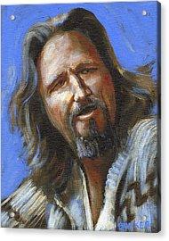 Jeffrey Lebowski - The Dude Acrylic Print by Buffalo Bonker
