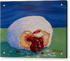 Jelly Donut Acrylic Print by Pamela Burger