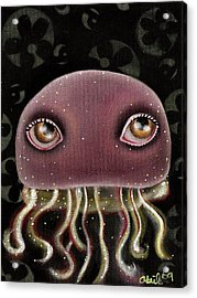 Jellyfish Acrylic Print by  Abril Andrade Griffith