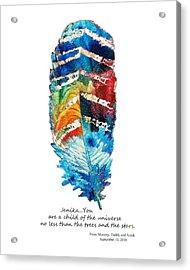 Custom Art - Jenika Child Of The Universe Acrylic Print by Sharon Cummings