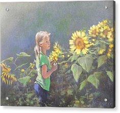 Jenny Acrylic Print by J M Brodrick