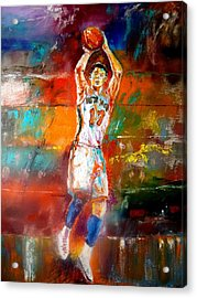 Jeremy Lin New York Knicks Acrylic Print by Leland Castro