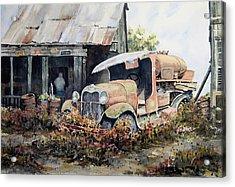 Jeromes Tank Truck Acrylic Print by Sam Sidders