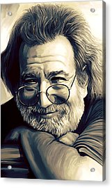 Jerry Garcia Artwork  Acrylic Print by Sheraz A