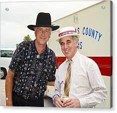 Jerry Jeff Walker And S. David Freeman Acrylic Print by Marilyn Hunt